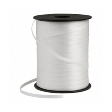 White Crimped Ribbon Spool - 5mm x 457m - The Base Warehouse