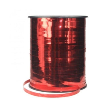 Metallic Apple Red Ribbon Spool - 5mm x 457m - The Base Warehouse