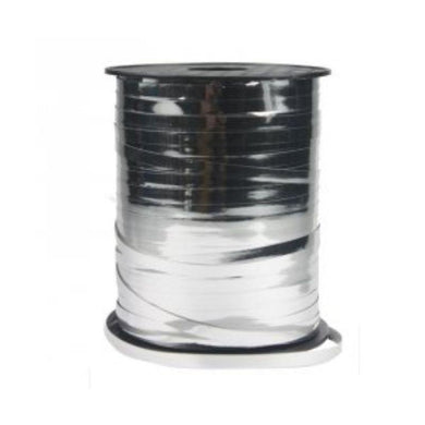 Metallic Silver Ribbon Spool - 5mm - The Base Warehouse