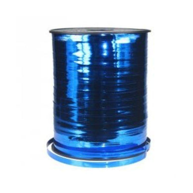 True Blue Metallic Ribbon Spool - 5mm x 450m - The Base Warehouse