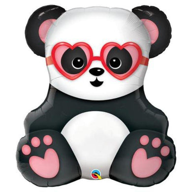 Lovestruck Panda Foil Balloon - 81cm - The Base Warehouse