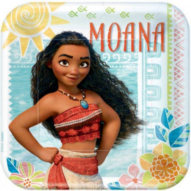 8 Pack Moana Square Plates - 23cm - The Base Warehouse