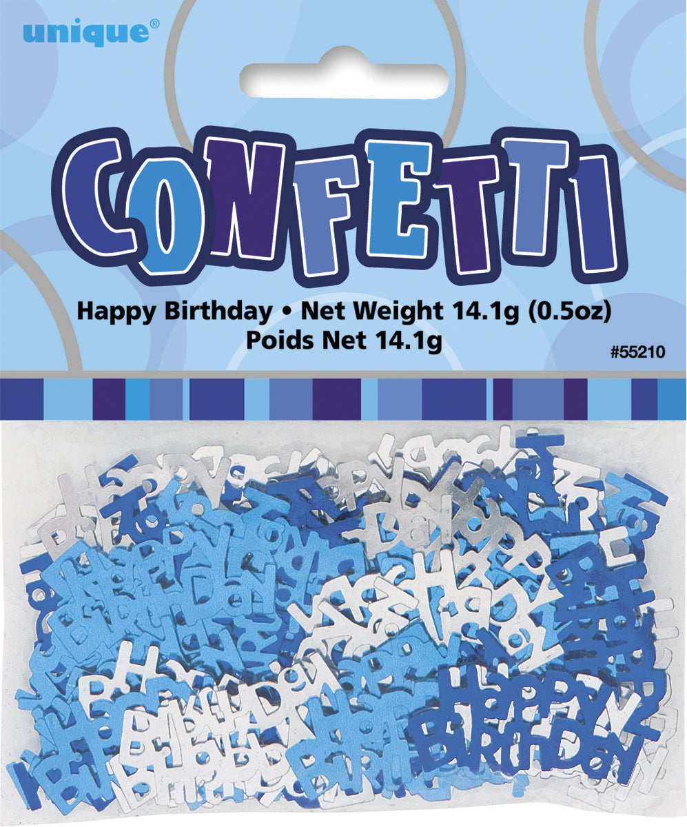 Glitz Blue Happy Birthday Confetti - 14g