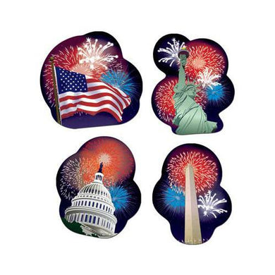 4 Pack American Patriotic Cut Outs - 35cm - The Base Warehouse