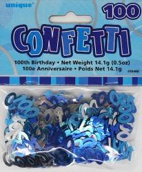 Glitz Blue 100th Birthday Confetti - 14g - The Base Warehouse