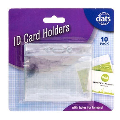 10 Pack Soft Horizontal ID Card Holders - 96mm x 78mm - The Base Warehouse
