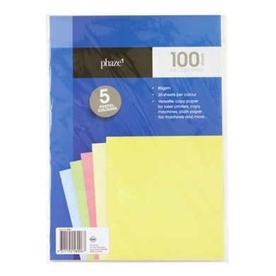 100 Pack A4 Pastel Copy Paper - The Base Warehouse