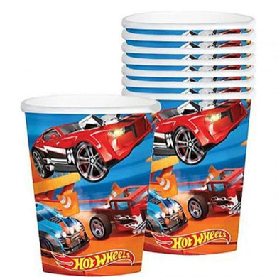 8 Pack Hot Wheels Wild Racer Cup - 266ml - The Base Warehouse