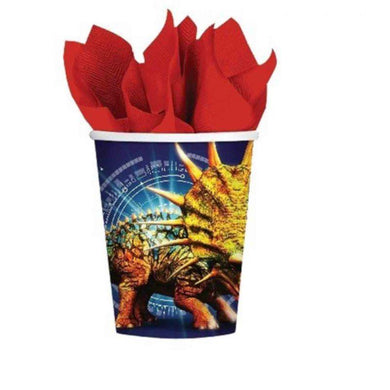 8 Pack Jurassic World Paper Cups - 266ml - The Base Warehouse