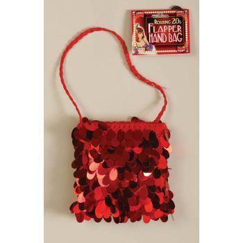 20s Red Sequin Flapper Bag - The Base Warehouse