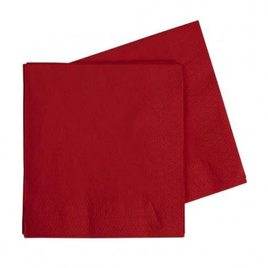 40 Pack Apple Red Lunch Napkins - 33cm - The Base Warehouse