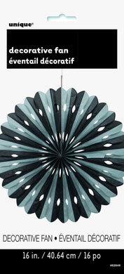 Black & Silver Decorative Fan - 40cm - The Base Warehouse