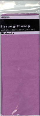 10 Pack Pretty Purple Tissue Sheets - 51cm x 66cm - The Base Warehouse