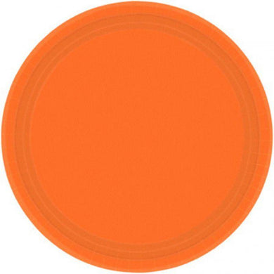 20 Pack Orange Paper Plates - 17cm - The Base Warehouse