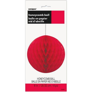 Ruby Red Honeycomb Ball - 20cm - The Base Warehouse