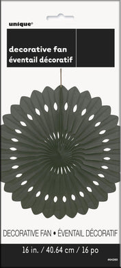 Midnight Black Decorative Fan - 40cm - The Base Warehouse
