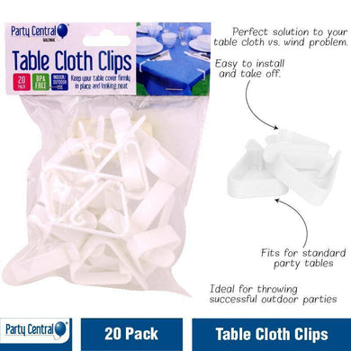 20 Pack Tablecloth Clips - The Base Warehouse