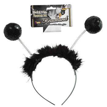 Black Sequin Antenna Bopper Headband - The Base Warehouse