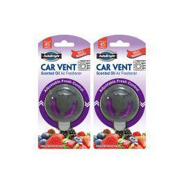 AutoBright Wild Berries Vent Scented Oil Air Freshener - 8g - The Base Warehouse