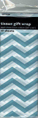 10 Pack Chevron Dots Tissue Sheets - 51cm x 66cm - The Base Warehouse