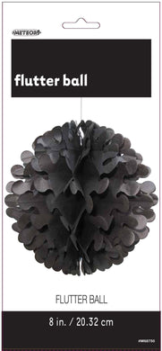 Midnight Black Flutter Ball - 20cm - The Base Warehouse