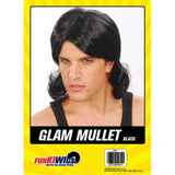 Load image into Gallery viewer, Mens Black Glam Mullet Wig