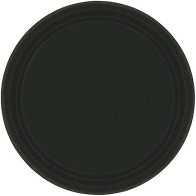 20 Pack Jet Black Paper Plates - 23cm - The Base Warehouse