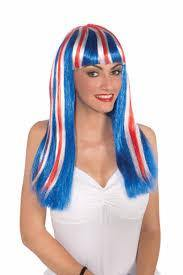 Womens Long Patriotic Wig - The Base Warehouse