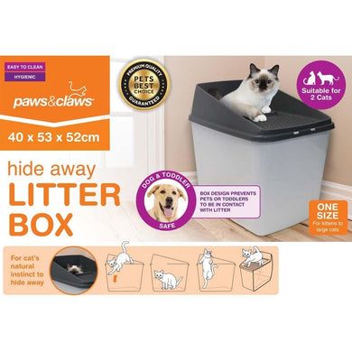 No Mess Cat Litter Box - 40cm x 53cm x 50.5cm - The Base Warehouse