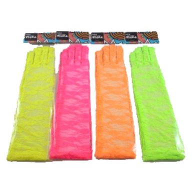 Neon Long Lace Gloves - The Base Warehouse