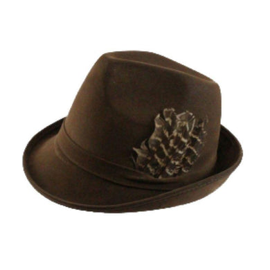 Adult Brown Suede Bavarian Fedora - The Base Warehouse