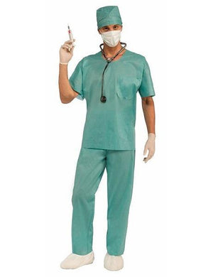 Mens Classic Blue Emergency Room Doctors Costume - The Base Warehouse