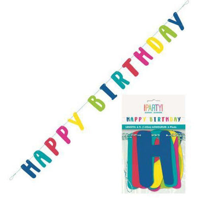 Llama Birthday Happy Birthday Letter Banner - 1.8m - The Base Warehouse