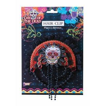 Day Of Dead Skull Hair Clip - The Base Warehouse