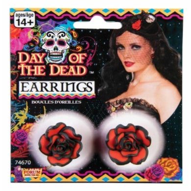 Day Of The Dead Rose Earrings - The Base Warehouse