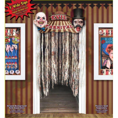 Evil Carnival Door Way Curtain - 91cm - The Base Warehouse