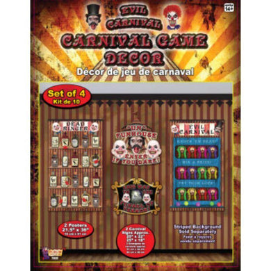 4 Piece Evil Carnival Game Decoration - The Base Warehouse