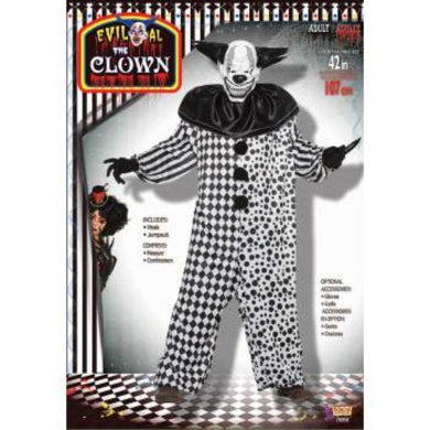 Mens Evil Al The Clown Costume - std - The Base Warehouse