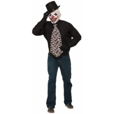 Evil Clown Jumbo Long Tie - The Base Warehouse