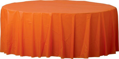 Orange Plastic Round Tablecover - The Base Warehouse