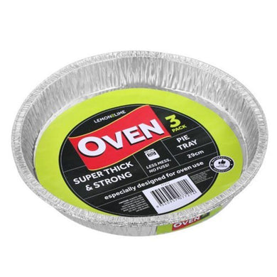 3 Pack Foil Pie Tray - 29cm - The Base Warehouse