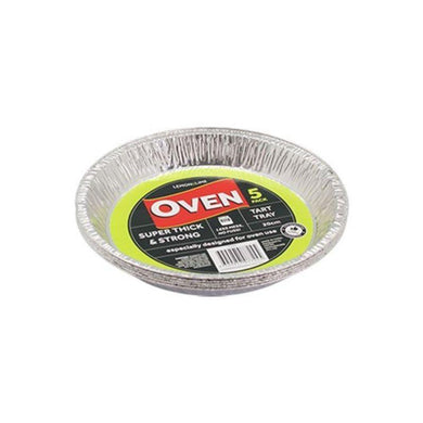 5 Pack Foil Tart Tray - 20cm - The Base Warehouse