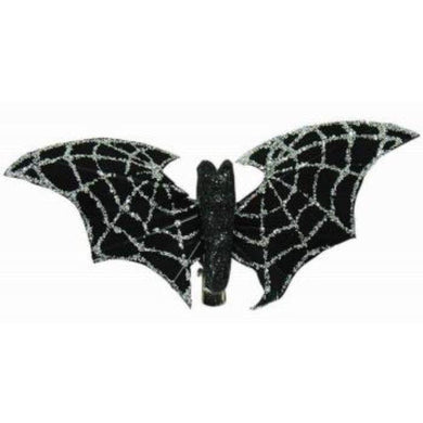 Bat Glitter Web Hair Clip - The Base Warehouse