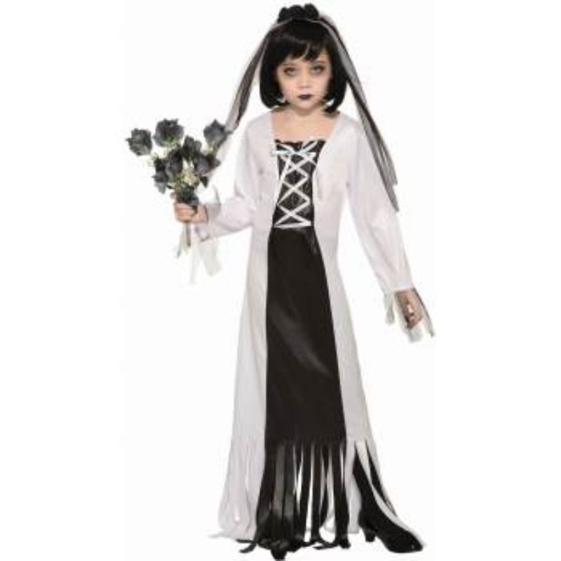 Girls Cemetry Bride Costume - M
