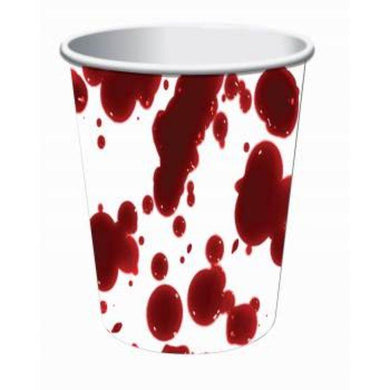 8 Pack Bloody Paper Cups - 266ml - The Base Warehouse