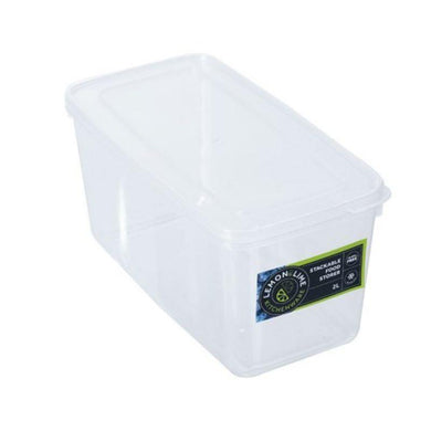 Keep Fresh Stackable Food Storer - 2L - 23cm x 11.5cm x 11.5cm - The Base Warehouse
