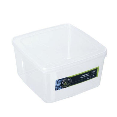 Keep Fresh Stackable Food Storer - 4L - 21cm x 21cm x 12.5cm - The Base Warehouse