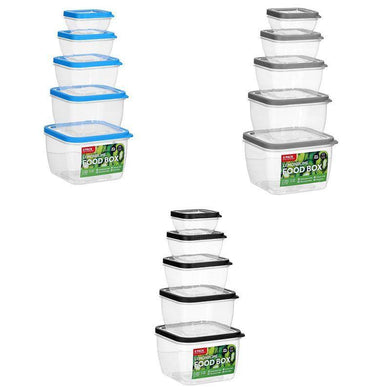 5 Pack Square Food Box Set - The Base Warehouse