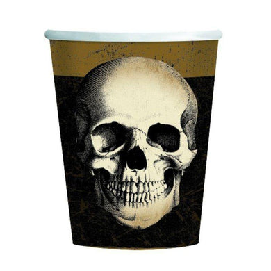 8 Pack Boneyard Paper Cups - 266ml - The Base Warehouse