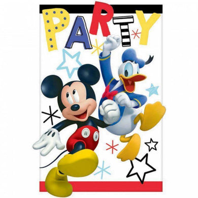 8 Pack Mickey on the Go Postcard Invitations - 11cm - The Base Warehouse
